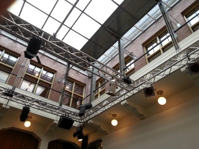 """""""Stop and Listen, The Hague!"""" - Sound installation by Leonie Roessler in the Nutshuis, The Hague, October 2015."""