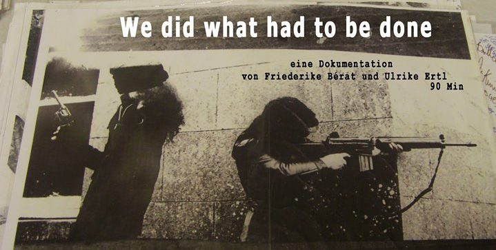 "Screening ""We Did What Had to Be Done"" 